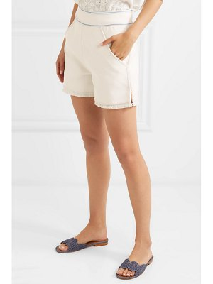 Talitha prairie embroidered cotton-twill shorts
