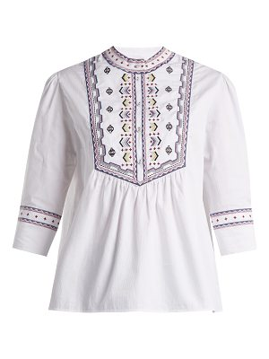 Talitha Willow Embroidered Cotton Top