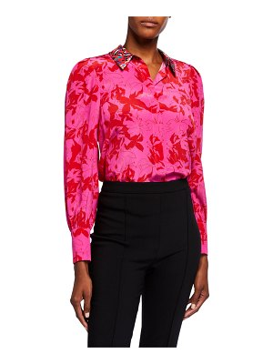 Tanya Taylor Dominique Printed Button-Down Top