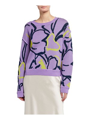 Tanya Taylor Eileen Squiggle Intarsia Knit Sweater
