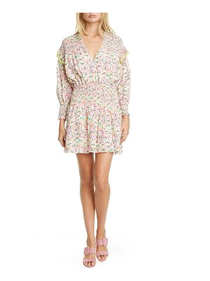 Tanya Taylor imogen floral long sleeve minidress