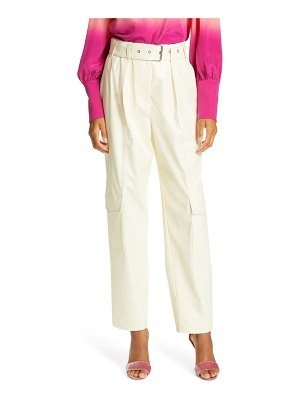 Tanya Taylor megan belted stretch cotton trousers