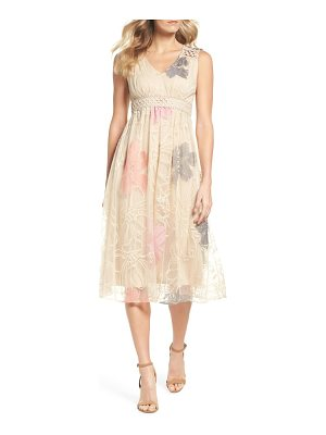 Taylor Dresses floral embroidered sleeveless dress