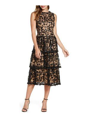 Taylor Dresses sequin floral lace embroidered dress