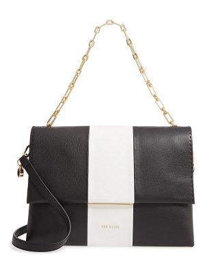Ted Baker alianna stripe leather shoulder bag