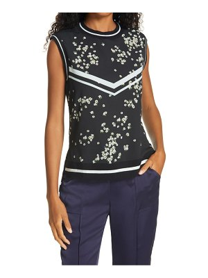 Ted Baker anyibel floral mix media sleeveless top