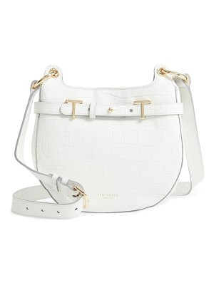 Ted Baker aspire croc embossed leather crossbody bag