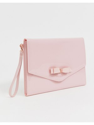 Ted Baker cersei patent envelope clutch