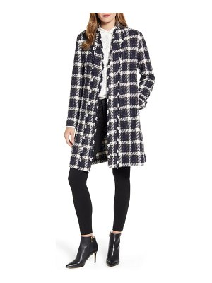 Ted Baker check boucle wrap coat