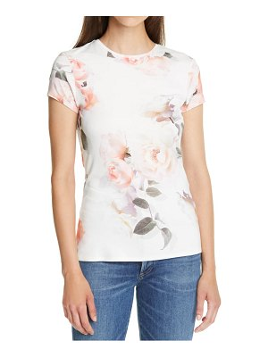 Ted Baker chesnot bouquet print fitted t-shirt