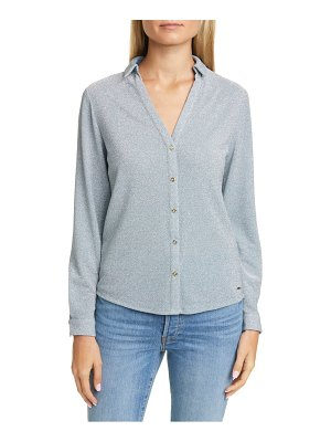 Ted Baker colour by numbers castelo metallic knit shirt