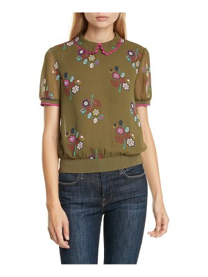 Ted Baker colour by numbers cleiss scallop collar short sleeve top
