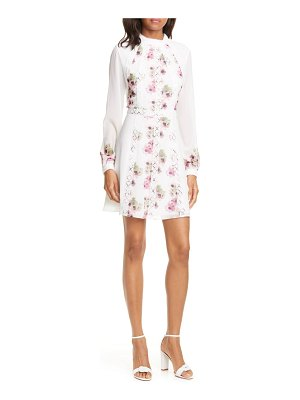 Ted Baker sundee floral lace trim long sleeve minidress