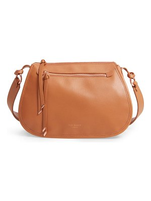 Ted Baker heatherr curved leather crossbody bag