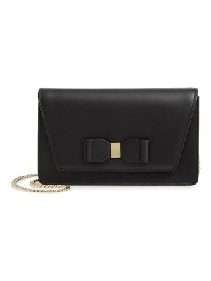 Ted Baker keeiira bow leather evening bag