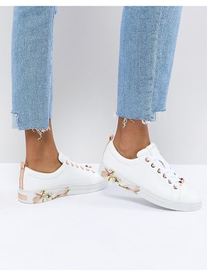 Ted Baker Kelleip Leather Floral Placement Sneaker