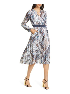 Ted Baker lilis quartz long sleeve pleated dress