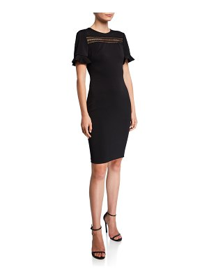 Ted Baker Livsia Short-Sleeve Lace Panel Pencil Dress