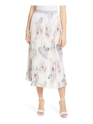 Ted Baker maxiiy woodland floral pleated skirt