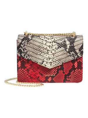 Ted Baker mini belida snake embossed leather crossbody bag