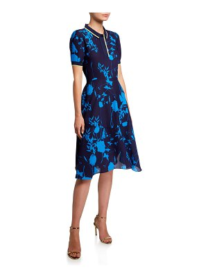 Ted Baker Ohlah Bluebell Short-Sleeve Collared Midi Dress