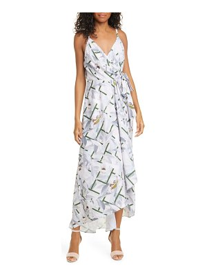 Ted Baker olevya everglade high/low wrap dress