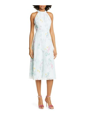 Ted Baker pinkee sorbet lace trim halter midi dress
