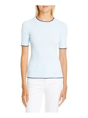 Ted Baker ribbed tipped detail short sleeve sweater