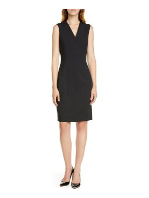 Ted Baker sleeveless wool blend sheath dress