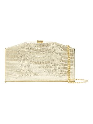 Ted Baker unae croc embossed leather clutch