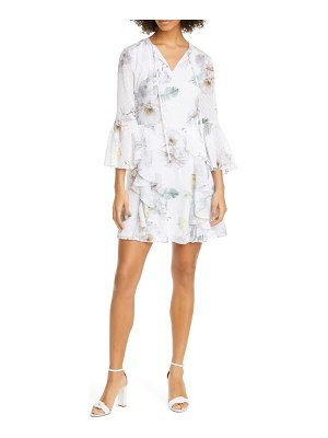 Ted Baker vivvia woodland floral clip dot minidress