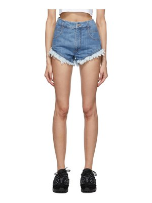 Telfar blue denim cut-off shorts