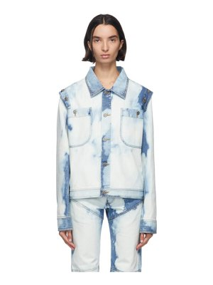 Telfar blue  denim detachable jacket