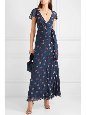 Temperley London devoré-chiffon wrap dress
