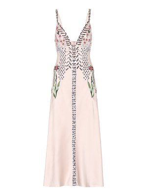 Temperley London Finale embellished satin dress