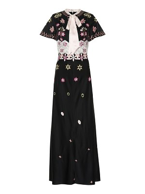 Temperley London finale embroidered crêpe dress