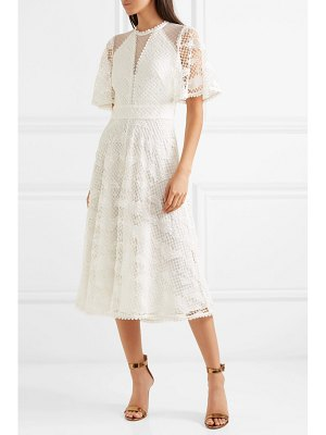 Temperley London haze guipure lace and tulle midi dress