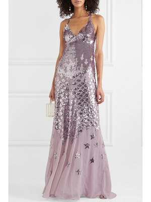 Temperley London starlet open-back sequin-embellished chiffon gown