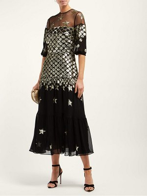 Temperley London Starlet Sequinned Tulle And Chiffon Dress