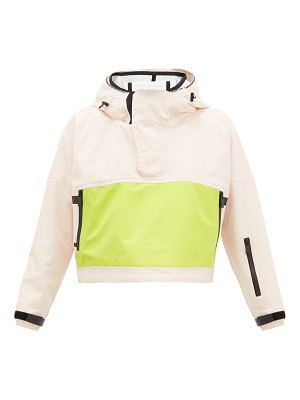 TEMPLA cropped bio-shell hooded anorak