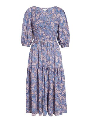 Ten Sixty Sherman paisley print ruffle dress