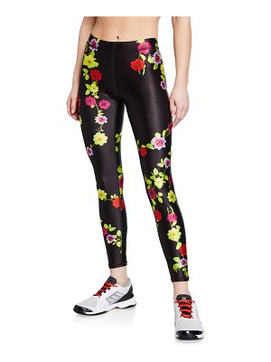 Terez Floral-Print Performance Leggings