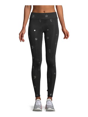 Terez Foil Tall Band Full-Length Performance Leggings