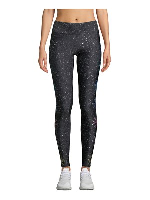 Terez Glitter Snowflake Tall-Band Performance Leggings