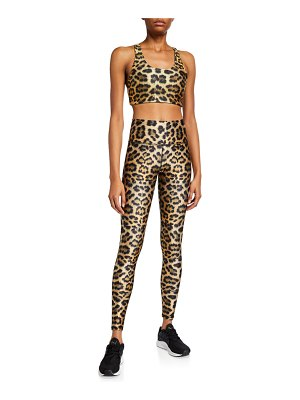 Terez Leopard High-Rise Leggings