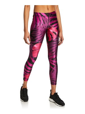 Terez Palm-Print Performance Leggings