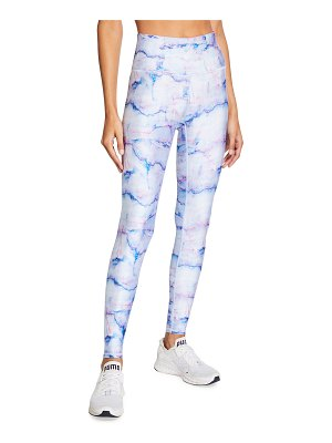 Terez Super High Rise Marble Printed Active Leggings