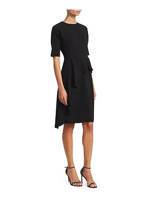Teri Jon asymmetric ruffle sheath dress