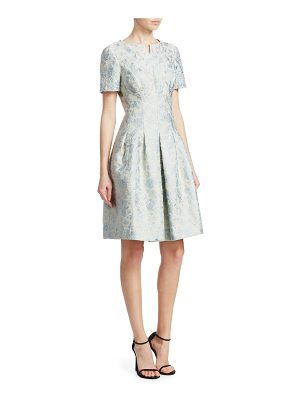 Teri Jon beaded jacquard dress