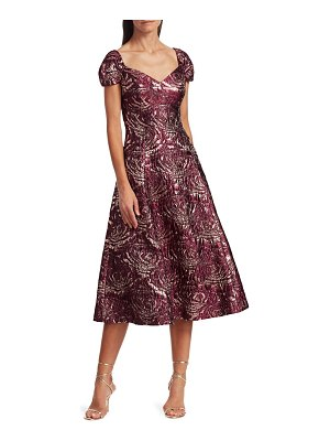 Teri Jon Brocade Fit & Flare Dress